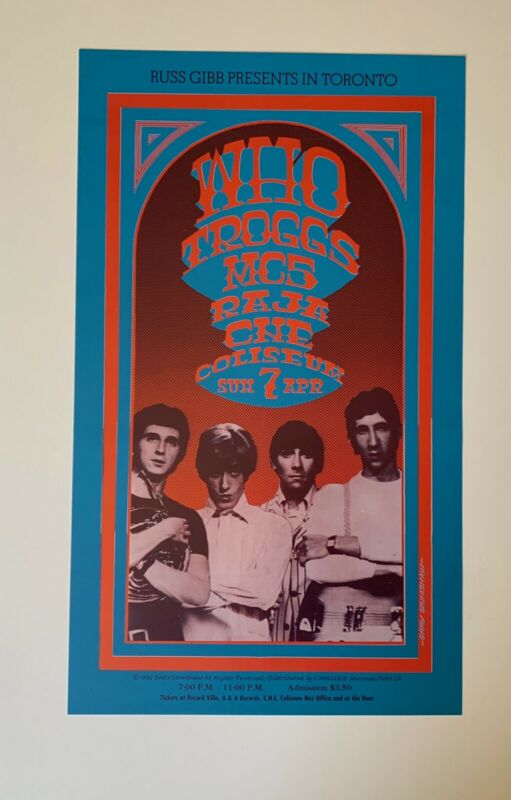 The Who in Toronto Original Concert Poster by Gary Grimshaw (1992 version)