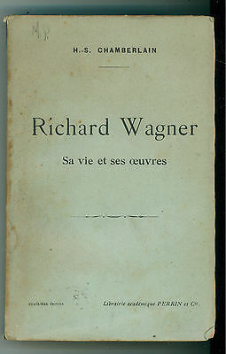 CHAMBERLAIN HOUSTON STEWART RICHARD WAGNER PERRIN 1912 MUSICA BIOGRAFIE