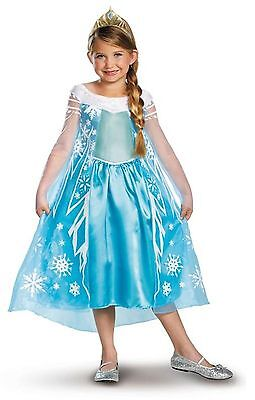 Disguise Frozen Elsa Costume Character Dress & Tiara NEW Halloween 7/8 Free Ship - Frozen Characters Costumes