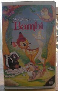 Disney's Bambi VHS Clamshell 1989 Black Diamond Classic ...