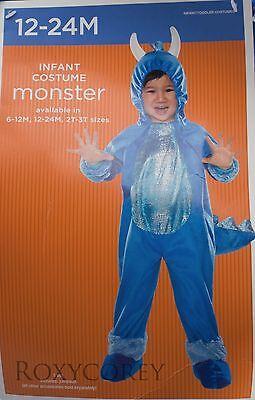 Infant Monster Halloween Costume (Halloween Infant Blue Monster Jumpsuit Costume Size 12-24 months)