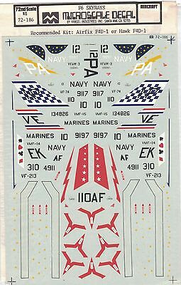 Micro Scale Decals F6 Skyrays US Navy Marines Military Fighter Jet Airfix 1:72