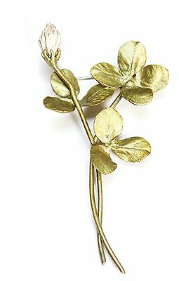 Clover Spray Pin Brooch By Michael Michaud for Silver Seasons