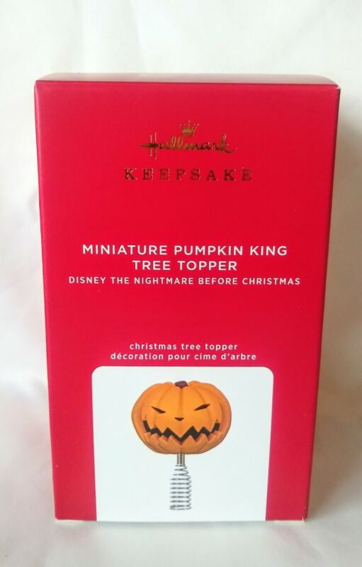Hallmark 2021 Mini Disney Nightmare Before Christmas Pumpkin King Tree Topper