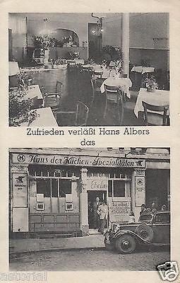 HANS ALBERS in HAMBURG, SCHULTERBLATT gegenüber FLORA * LILIOM * Werbekarte