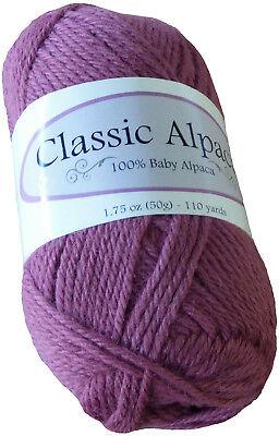 Victorian Rose Classic Alpaca 100% Baby Alpaca Yarn #1819 50g/110 yds DK Peru for sale  Crawford