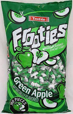 Frooties Green Apple Candy 360 Count Bag Tootsie Roll Bulk Candies 2.42 LBS - Tootsie Roll Frooties