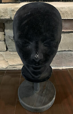 Vintage Black Head Form Mannequin Wigs Hats Display Styrofoam Wood Stand Canada