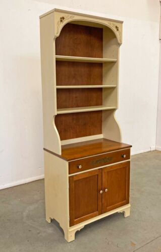 Vintage Hitchcock Cherry 2-Piece Shelf Bookcase Cabinet