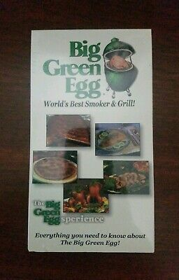 Big Green Egg **SEALED** VHS 2000 Eggsperience Summer Grill Smoker Kamado , used for sale  Pompano Beach