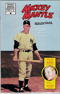 MICKEY MANTLE COMIC #2 FACTORY BAGGED WITH MANTLE,JOSH GIBSON CARDS--D