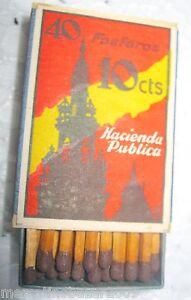 40-FOSFOROS-10CTS-HACIENDA-PUBLICA-SAFETY-MATCHES