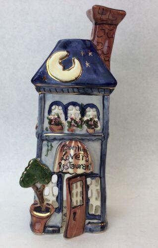 Heather Goldminc Moonlight Lovers Restaurant Tea Light Candle Holder Blue Sky