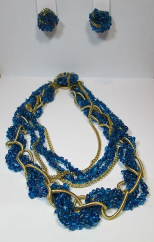 Hattie Carnegie Vintage Signed Beaded Necklace and Earrings