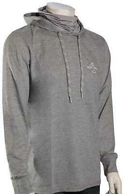 Salty Crew Four Corners Tech Pullover Hoody with Mask - Athletic Heather - New - Athletic Pullover Hoody