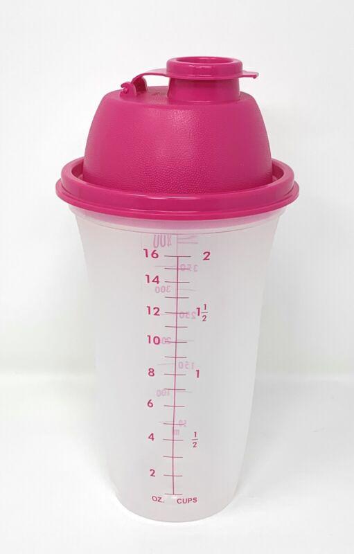 Tupperware Quick Shaker Pink 16 Oz. NEW