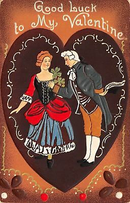 Valentine Fortune Cookies (Valentine~Regency Couple on Chocolate Heart~Cookie Back~White Emboss~TUCK)