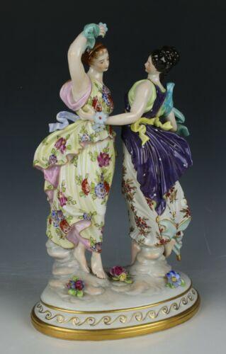 """Dresden Volkstedt figurine """"Two Dancing Women"""""""