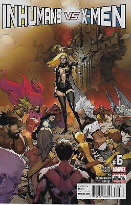Inhumans vs. X-Men No.6 / 2017 Jeff Lemire Charles Soule & Leinil Francis Yu