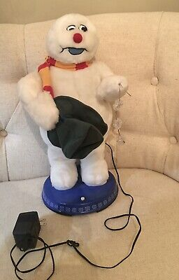 """Frosty The Snowman Singing Dancing 20"""" Tips Hat Rare Gemmy Snowflake ,"""