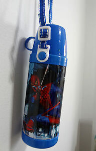 Spiderman-School-Plastic-Lunch-Bag-Box-Drink-Bottle-Cup-Flask-Kids-Childrens-Toy
