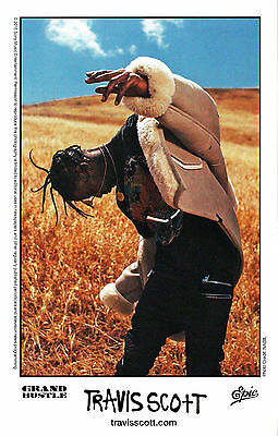 TRAVIS SCOTT Birds In The Trap Sing Ltd Ed RARE Photo Card+FREE Hip-Hop Stickers