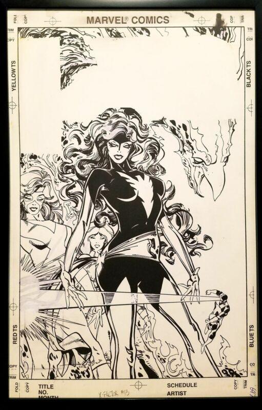 X-Factor #13 Jean Grey Phoenix Walt Simonson 11x17 FRAMED Original Art Poster Ma