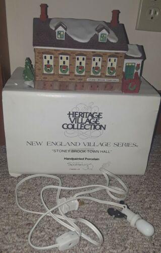 Dept 56 New England Village Series Stoney Brook Town Hall 5644-8