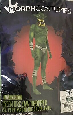 Morph costumes Adult Green Orc Jaw Dropper Morph Suit Size  Halloween New - Morph Costumes Halloween