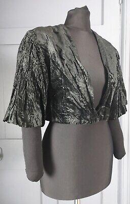 Stylish 1930s Deco Crushed Velvet Bolero Jacket - True Vintage Fashion for sale  Shipping to Nigeria