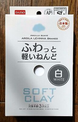 DAISO JAPAN DIY Soft Clay Arcilla Suave Lightweight WHITE made in Japan