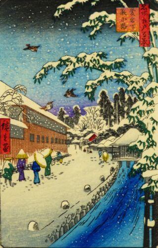 Japanese Snowy River Woodblock