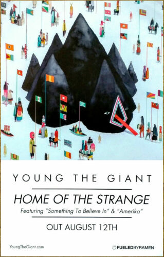 Young The Giant Home Of The Strange Fueled By Ramen Records 2-Sided Poster 11x17