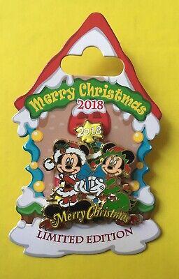 Disney Mickey Minnie Merry Christmas 2018 Pin Free D Tree Topper LE 4000