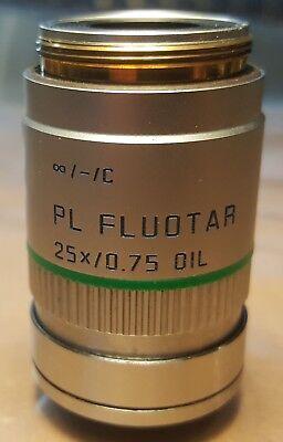 Leica Pl Fluotar Microscope Objective 25x0.75 Oil -c M25x0.75 506006