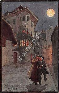 Cartolina-Postcard-Illustrata-Stolz-Bolzano-Das-Batzenhausel-1922