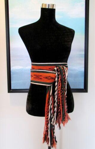 VTG ca.1940 Hand Woven Native American Ceremonial NAVAJO Sash Wrap Belt