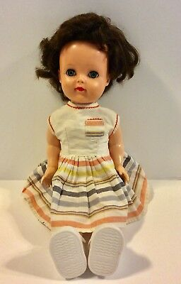 Vintage 1950's Ideal Posie Face Saucy Waler Doll With Crier