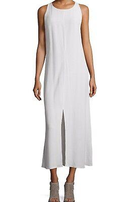 NWT EILEEN FISHER PROJECT Sz L Maxi Dress Tencel SLEEVELESS Round Neck Bone $328