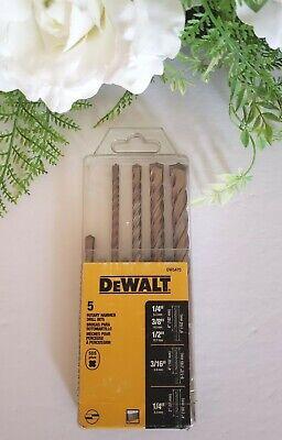 Dewalt Dw5470 5 Piece Sds Plus Rock Carbide Tip Rotary Hammer Bits Set