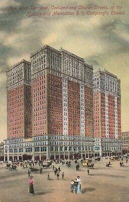 A)  New York City, NY - Hudson and Manhattan RR Company Tunnel - Street View - Party City Ny Ny