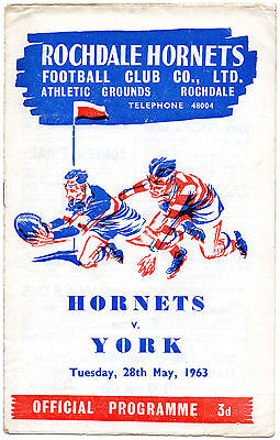 Rochdale Hornets v York 1963