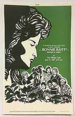 BONNIE RAITT Original 1987 Concert Poster