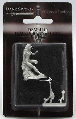 Dark Swords (Dark Sword DSM-4110 Female Bard with Lute (Easley Masterworks) Seated)