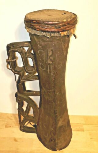 Kamoro Tribe Hand Crafted Original Wooden Tifa Drum Papua New Guinea Island