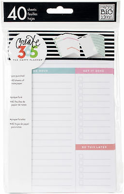 Create 365 Mini Happy Planner Fill Paper 4.5x7 40pkg-white Daily