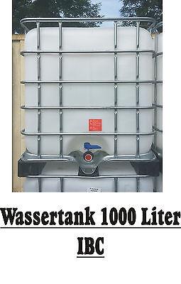 Regen-Wassertank IBC 1000 Liter auf Kunststoffpalette