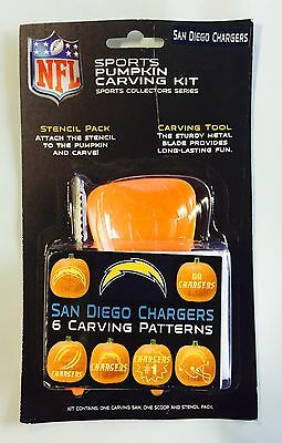 Los Angeles Chargers Halloween Pumpkin Carving Kit NEW Stencils Jack-o-latern (Halloween Pumpkin Carving Stencils)