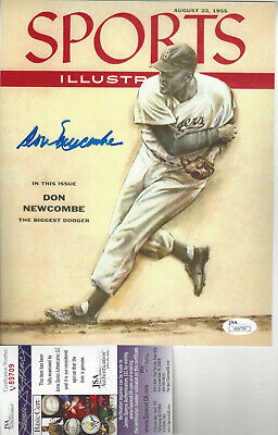 DON NEWCOMBE Brooklyn Dodgers autographed 8x10 1965 SI color photo JSA Cerified (Brooklyn Dodgers 8x10 Photograph)