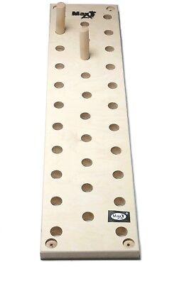 MaxGym® Trainingsboard Steckbrett Klettergriffe Seitenlänge  pegboard 180 cm